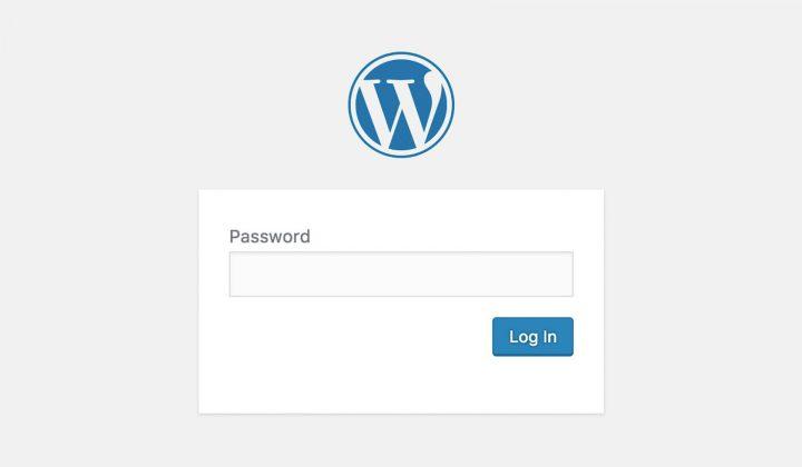 password protected staging website